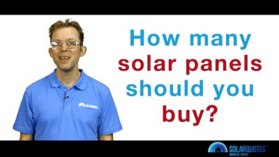 how many solar panels should you buy