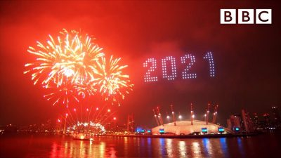 London's 2021 fireworks - Happy New Year