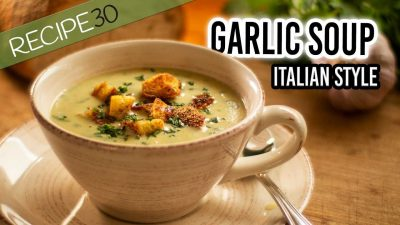 garlic soup italian style