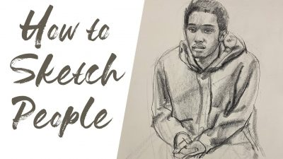 how to sketch people