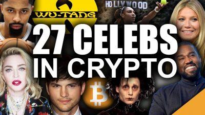 biggest celebrity bitcoin investors